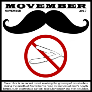 Movember - all november 2017