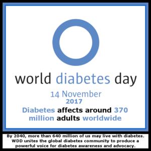 World Diabetes Day - 14th November 2017