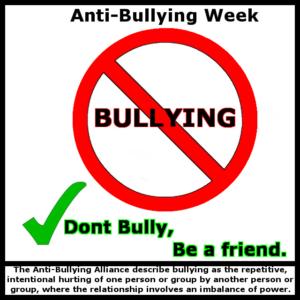 anti-bullying week - 13th October 2017