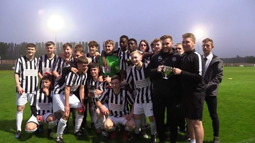 Last night, Corby Town's Under 18's beat Rothwell Corinthians Under 18's to win the Northants Senior Youth League KO Cup